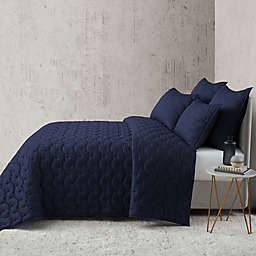 O&O by Olivia & Oliver™ Lofty Stitch King Quilt in Navy