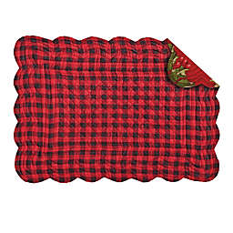 C & F Home Holly Red Reversible Placemat