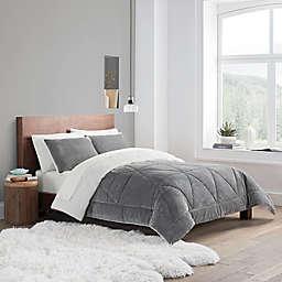 UGG® Avery 3-Piece Reversible King Comforter Set in Seal Grey