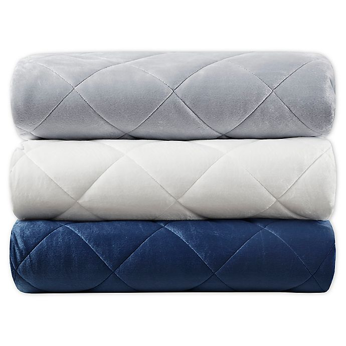 Alternate image 1 for Beautyrest® Luxury Faux Mink Weighted Throw Blanket