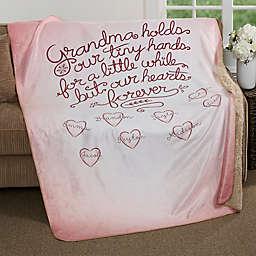 Grandchildren Fill Our Hearts Personalized Blanket