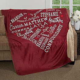 Close to Her Heart Personalized Blanket