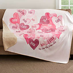 Our Hearts Combined Personalized Fleece Blanket