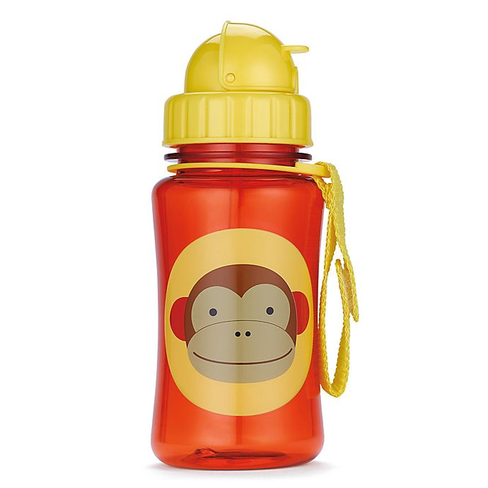Alternate image 1 for SKIP*HOP® Zoo 12 oz. Monkey Straw Bottle