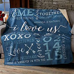 I Love Us Personalized Blanket