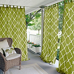 Corado Trellis Tab-Top Indoor/Outdoor Window Curtain Panel