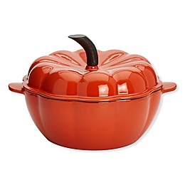 Artisanal Kitchen Supply® 2 qt. Enameled Cast Iron Pumpkin Dutch Oven in Orange