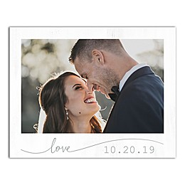 Designs Direct Personalized Script Love Frame 11-Inch x 14-Inch Canvas Wall Art in White