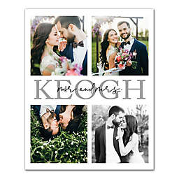 Personalized Script Mr. and Mrs. 16-Inch x 20-Inch Canvas Wall Art