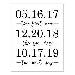 Designs Direct Personalized Important Dates 16-Inch x 20-Inch Canvas Wall Art
