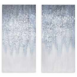 Madison Park™ Winter Gaze 2-Piece Wrapped Canvas Wall Art in Blue/White