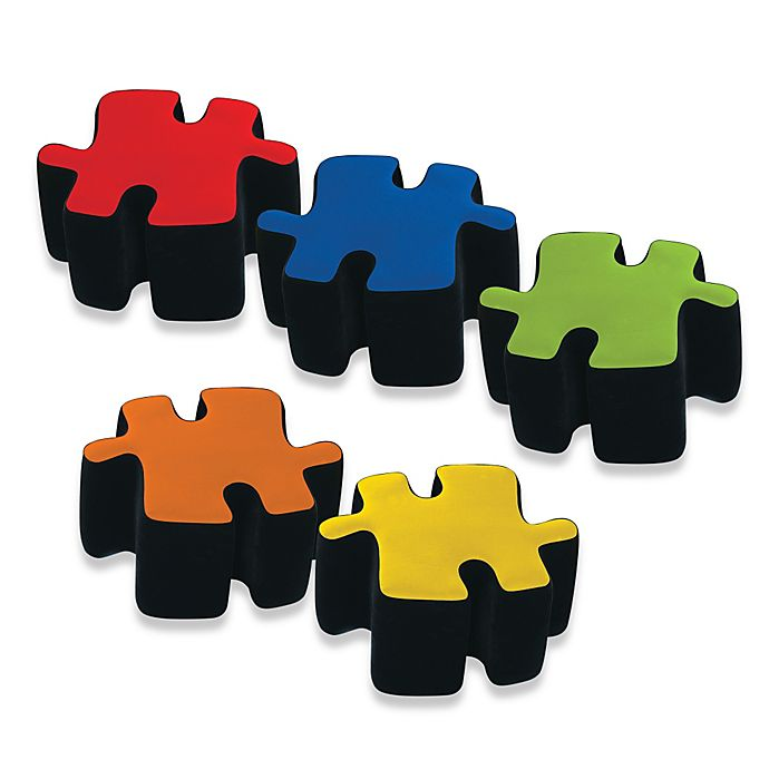 Alternate image 1 for Two-Toned Plush Puzzotto™ Ottomans