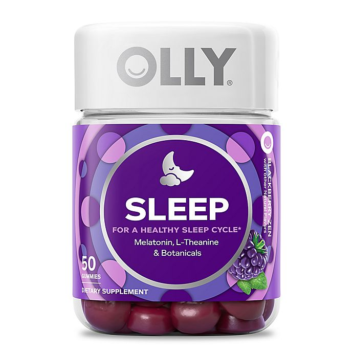Olly 50 Count Restful Sleep Gummies In Blackberry Zen Bed Bath