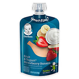Gerber® 3.5 oz. Fruit and Yogurt Smart Flow Toddler Pouches with Strawberry Banana and Yogurt