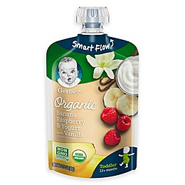 Gerber® 3.5 oz. Organic Smart Flow Toddler Pouch Banana Raspberry and Yogurt with Vanilla