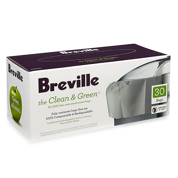 Alternate image 1 for Breville® the Clean & Green™ 30-Count Juicer Bags