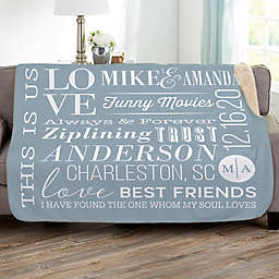 Better Together Personalized Sherpa Blanket