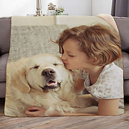 Picture It! Wedding Personalized Photo Sherpa Blanket