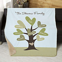 Leaves of Love Personalized Sherpa Blanket