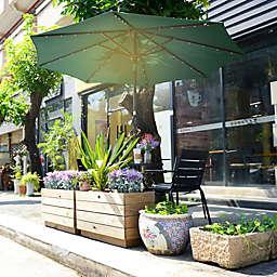 Villacera 9-Foot LED Market Umbrella
