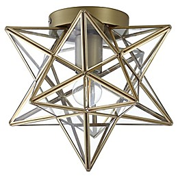 JONATHAN Y Stella Moravian Star Flush-Mount Ceiling Fixture