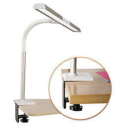 OttLite® LED Extra Wide Clamp Desk Lamp in Silver