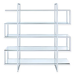 Crosby Bookcase in Chrome/Glass