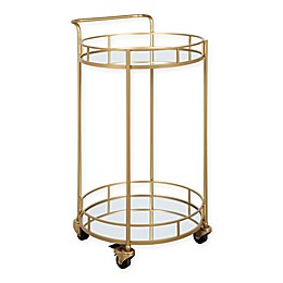 Kate and Laurel™ Deveaux 2-Tier Mirrored Bar Cart in Gold