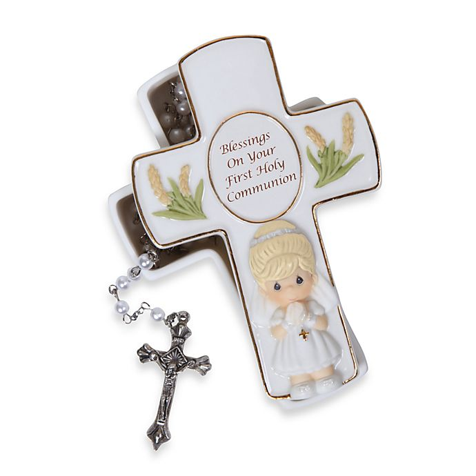 Alternate image 1 for Precious Moments® Blessings On Your First Holy Communion Girl Rosary Box With Rosary