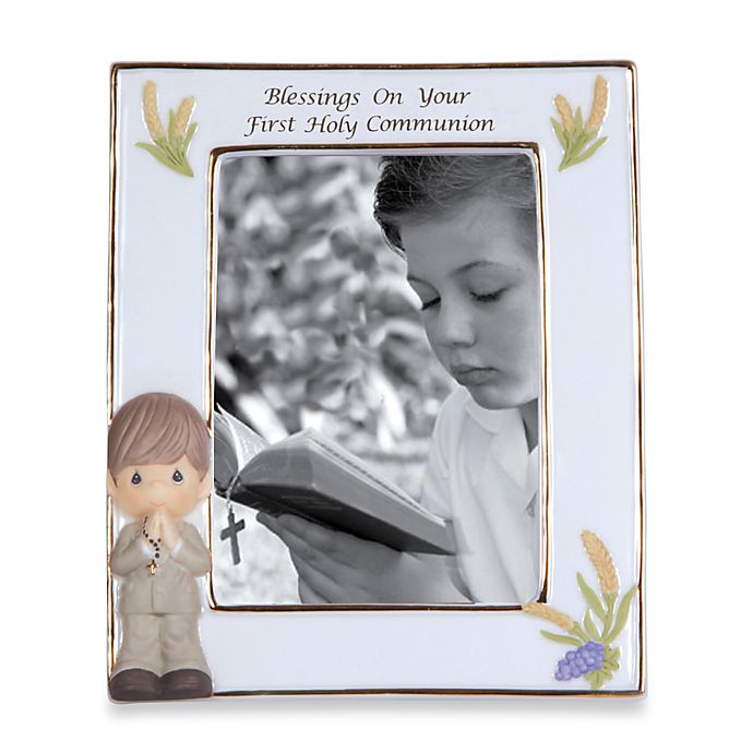 Alternate image 1 for Precious Moments™ Blessings On Your First Holy Communion Boy Frame