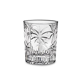Godinger Dublin Crystal South Beach Palm 10 1/2-Ounce Double Old-Fashioned (Set of 4)