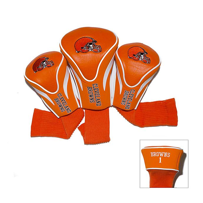 edc37e9b NFL Cleveland Browns 3-Pack Contour Golf Club Headcovers | Bed Bath ...