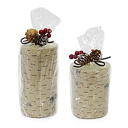 Zodax North Star Frosted Bead Birch Candle in Ivory