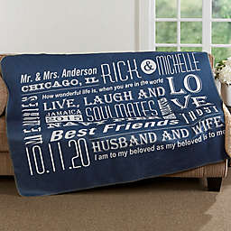 Our Life Together 50-Inch x 60-Inch Personalized Sherpa Blanket