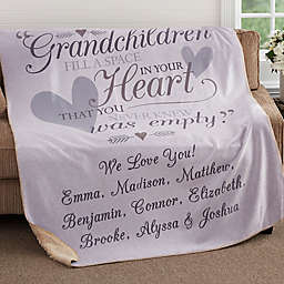 Grandparents 60-Inch x 80-Inch Personalized Sherpa Blanket