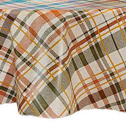 Harvest Plaid Fall 70-Inch Round Vinyl Tablecloth
