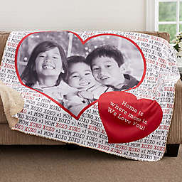 Love You This Much Personalized Sherpa Blanket