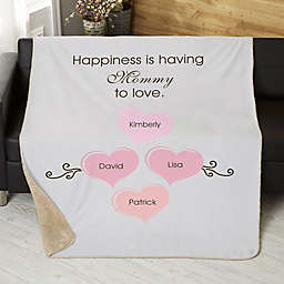 What Is Happiness? Personalized Sherpa Blanket