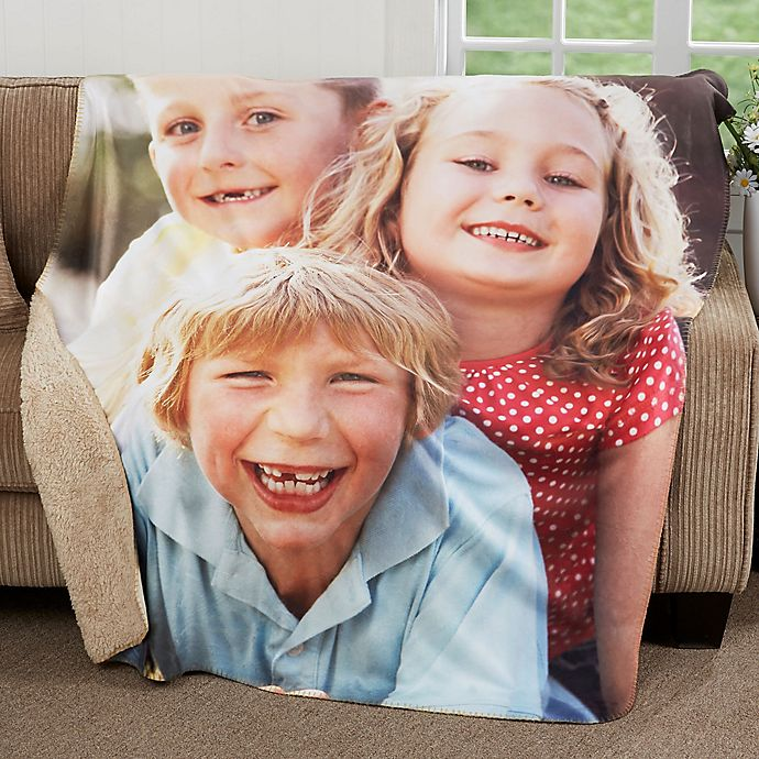 Alternate image 1 for Picture Perfect Personalized Sherpa Blanket