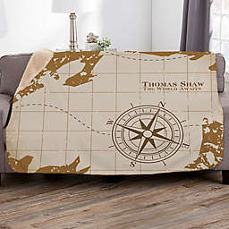 Compass Inspired Retirement Personalized Sherpa Blanket