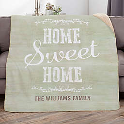 Home Sweet Home Personalized Sherpa Blanket