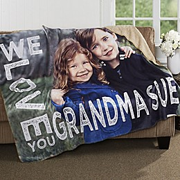 Loving Her Personalized Photo Sherpa Blanket