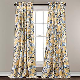 Dolores Room Darkening Rod Pocket Window Curtain Panel Pair