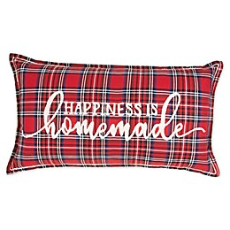 Bee & Willow™ Home Christmas Plaid Oblong Throw Pillow in Red
