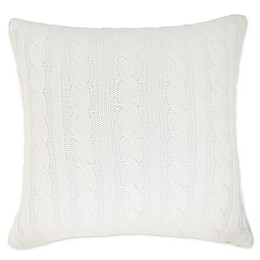 Bee & Willow™ Home Cable Knit Ticking Stripe Square Throw Pillow