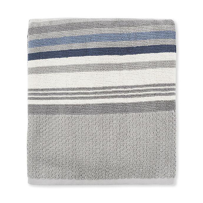 Alternate image 1 for Fashion Value Caper Stripe Bath Towel