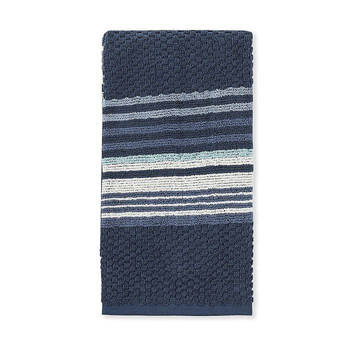Alternate image 1 for Fashion Value Caper Stripe Fingertip Towel
