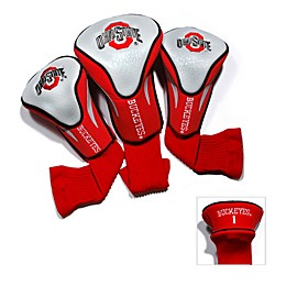 Ohio State University 3-Pack Contour Golf Club Headcovers