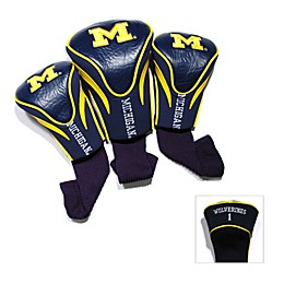 University of Michigan 3-Pack Contour Golf Club Headcovers