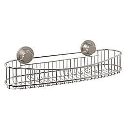 ORG NeverRust® Power Grip Pro™ Stainless Steel Long Shower Caddy